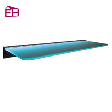 Promotional top quality led wall floating shelve and led lighted bar shelf