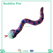 Snake plush squeaky toy for cats / pet toys