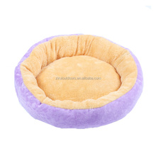 Purple Round Pet Dog Cat Bed For Small Animal In Stock