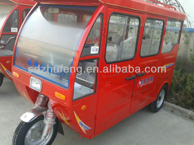 electric and gas power electric tricycle for passenger