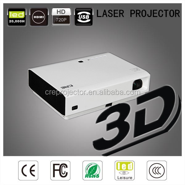 3D polarized short throw 3LED Oscram projector 3200lumen resolution 1280*800p dlp projector