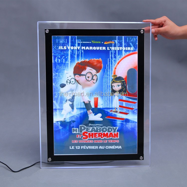 Top Quality Led Frameless Transparent Light Box Fast Food Menu Board