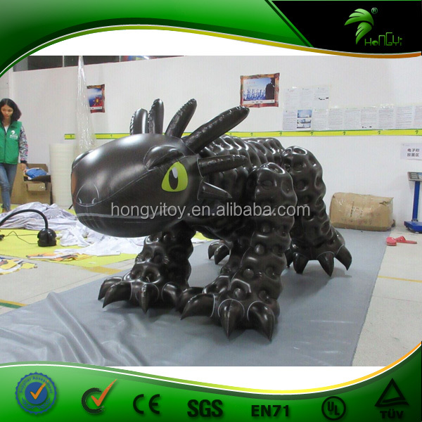 Unique Design Double Layer Inflatable Toothless Balck Dragon Costume / Suit