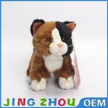 White and brown cat toys plush toy cat stuffed animal toy