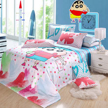 comfortable personalized cartoon cotton kids sheets bed bedding set