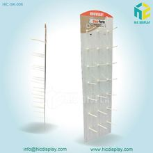 HIC tray floor peg hanging display rack, good quality wallet floor display stand