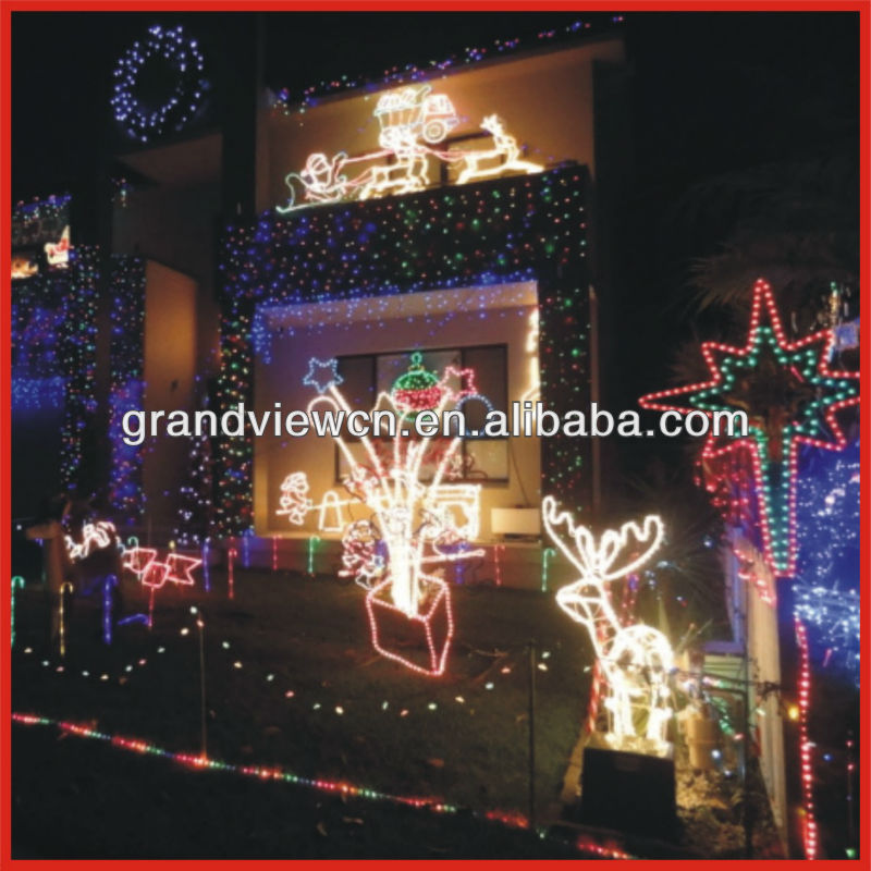 outdoor waterproof safety christmas decoration LED christmas lights 3D motif christmas