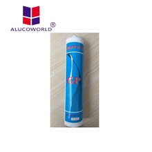 Alucoworld antifungal fire rated clear silicone sealant tube