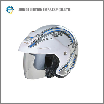 DOT open face helmet with colorful design WHITE COLOR