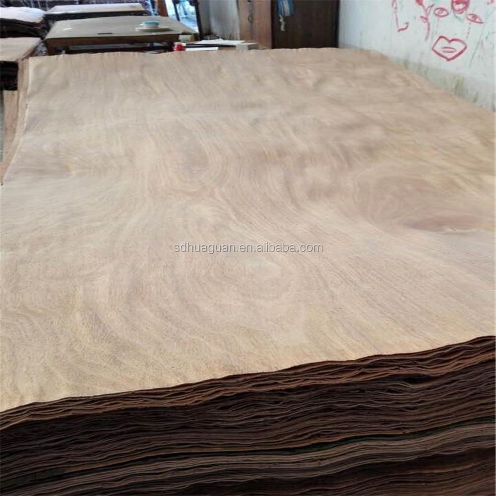 Water resistant wood veneer laminates rotary cut face