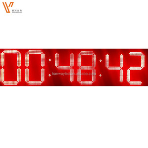 GPS auto time 7 segment large digital led wall clock display