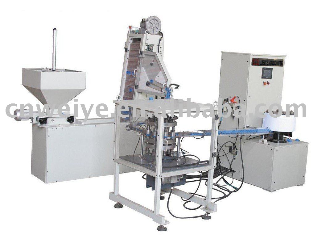 HE-6W Full automatic uploading folding cap slitting machine