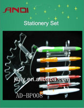 2014 Hot promotionl multicolorful Plastic&metal clip ball pen with fast delivery