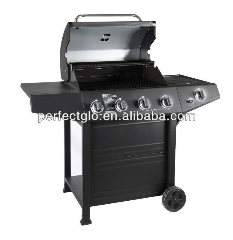low end professional supplies bbq 4 burner gas grill PG-40403S0L grill with CSA approval black