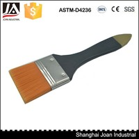 Professional artist wooden handle flat paint brush