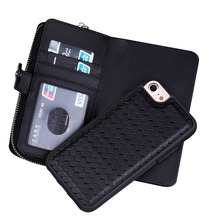 For iPhone 7 weave leather phone case , cell phone Knit lines phone case for iphone 7