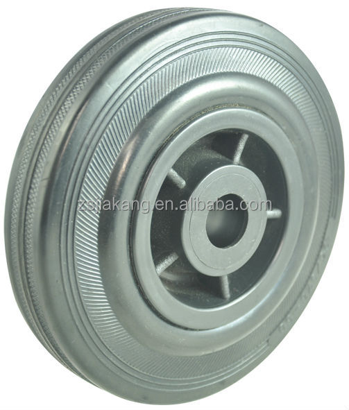grey rubber wheel, PP rim, roller bearing, good price, high quality for caster.