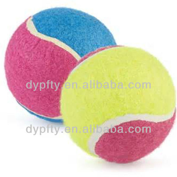 4inch colored dog tennis ball for large dog