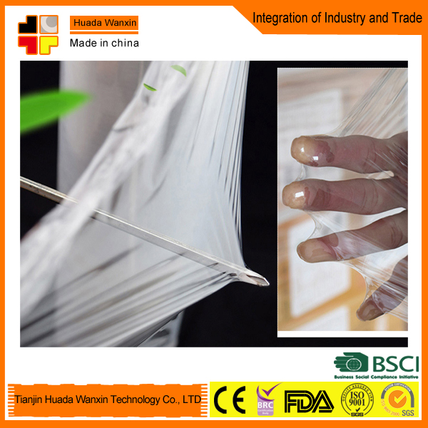 Best fresh soft pvc pe plastic stretch film food wrap with free sample