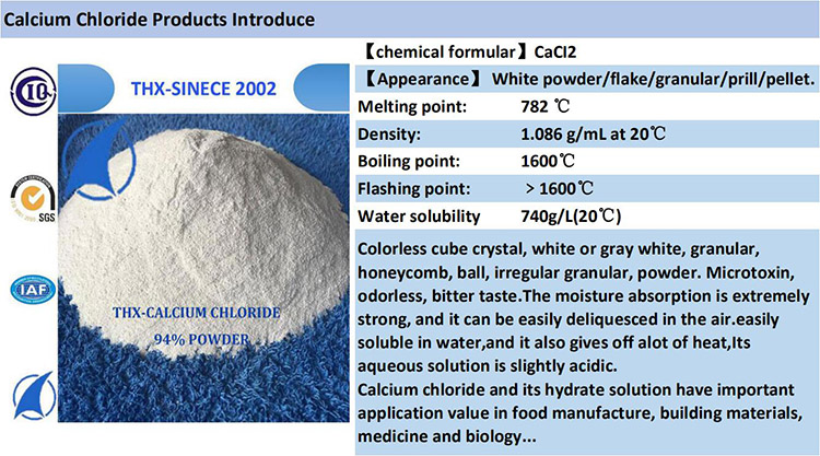 Industrial Grade Anhydrous White Powder Calcium Chloride 95%MIN For Drilling Mud