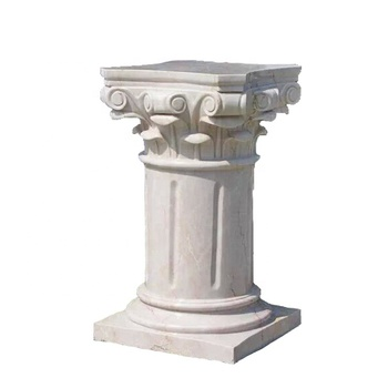 High quality hot sale product cheap decoration home white stone pillars and columns