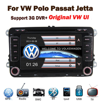 In stock Original UI 2 din car gps navigation for vwf golf Jetta Passat Tiguan