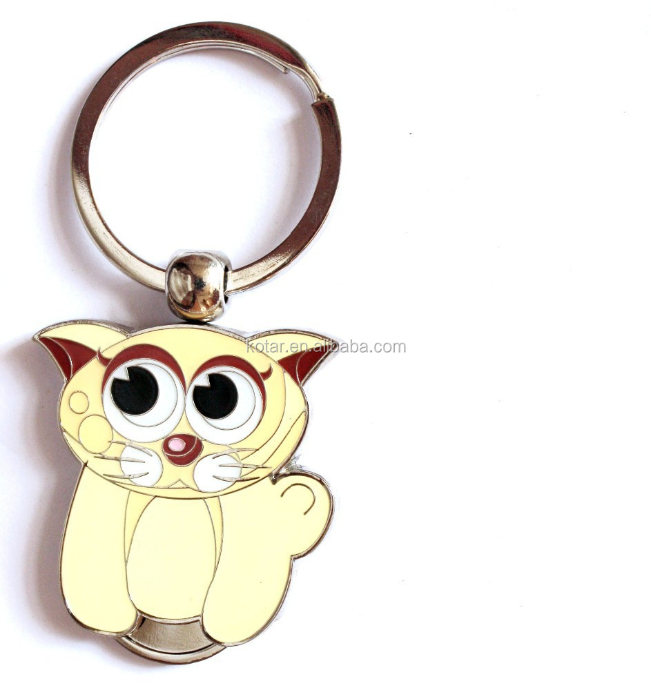 promotion cartoon customized key chains
