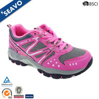 SEAVO SS17 cheap durable high quality beautiful women pink color sports trdkking shoes