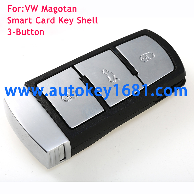 3 Button Smart Remote Key Shell Case Fob for VW/VOLKSWAGEN Magotan Passat CC