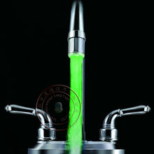 Green Color Glow Water Stream led faucet light without battery