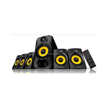 shenzhen Factory wooden 5.1 home theatre sound speaker system With USB/FM/Remote Control