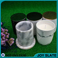 White marble grain ceramic candlestick holders