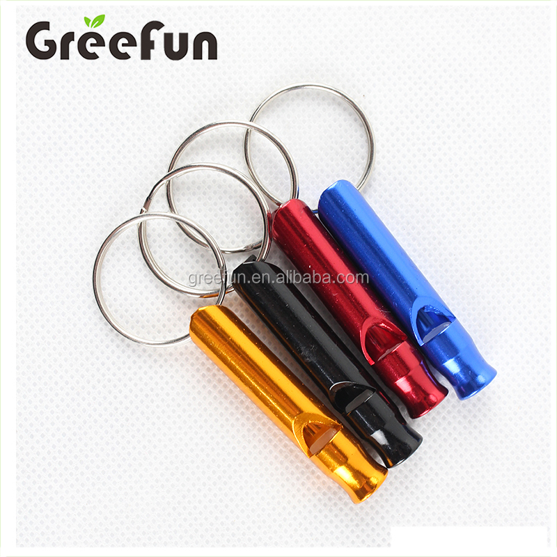 Wholesale Lightweight Flat Referee Whistle With Key Chain , Hot Selling Promos Outdoor Sports Emergency Survival Whistle