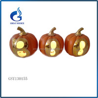 Halloween festive light decoration small ceramic pumpkins wholesale