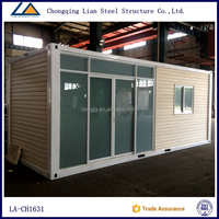 Steel structure ready made movable houses container log cabin