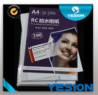 260gsm A4 A3 roll size glossy silky /woven/luster RC photo paper