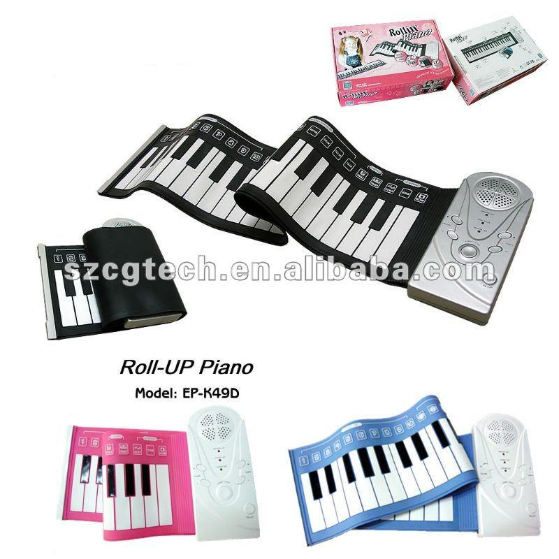 waterproof foldable flexible piano keyboard/roll up piano for kids/electronic organ