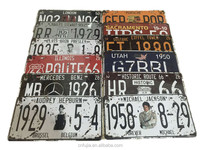 Wholesale Retro souvenir embossed metal car license plate aluminum sign