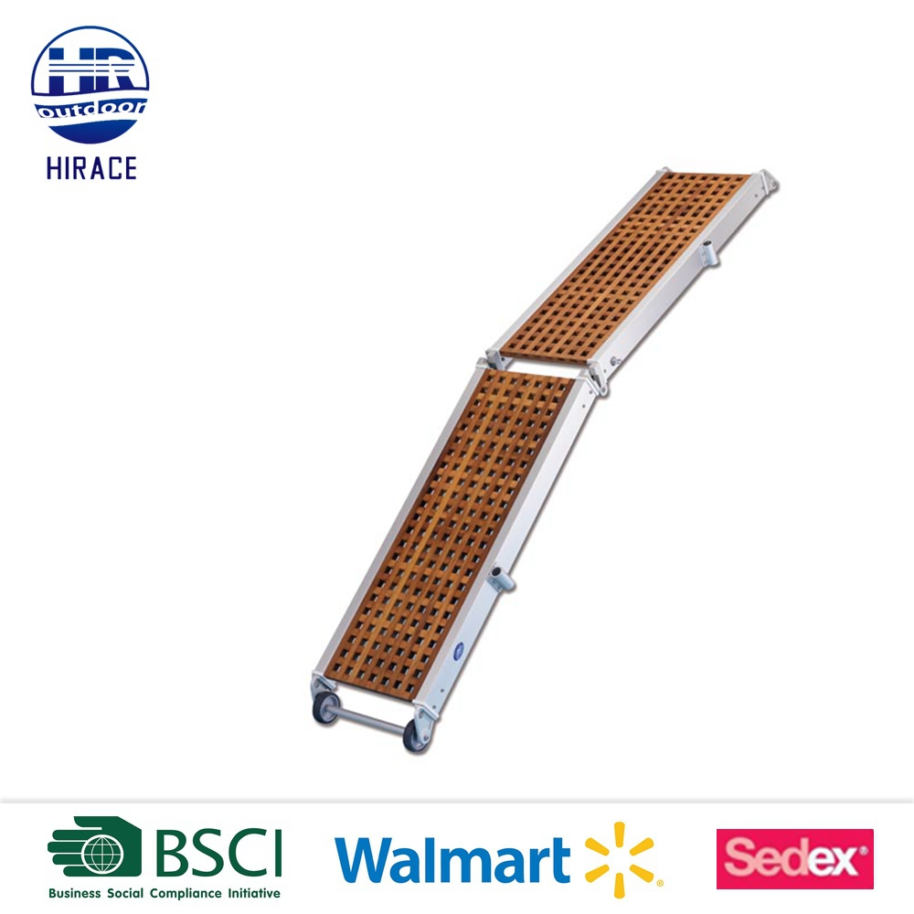 Foldable Wooden Gangway with Safety Net