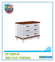Wooden cheap 6-drawer chest q function table buffer function hot sales in 2016