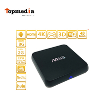 mini m8s andriod tv box amlogic s812,quad cord H265 hardware decoding smart box with wifi