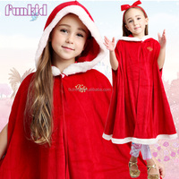 2015 hot style children girls dress snow white belle red cape for 4-10years old girls dress