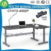 2016 New Design Electric Control Height Adjustable Executive Office Table for European Market