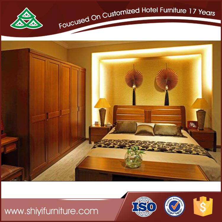 Wholesale Modern Hotel Furniture classic king bed wardrobe