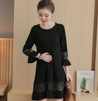 Z83420B Western maternity lace dresses for pregnant women wholesale maternity clothing