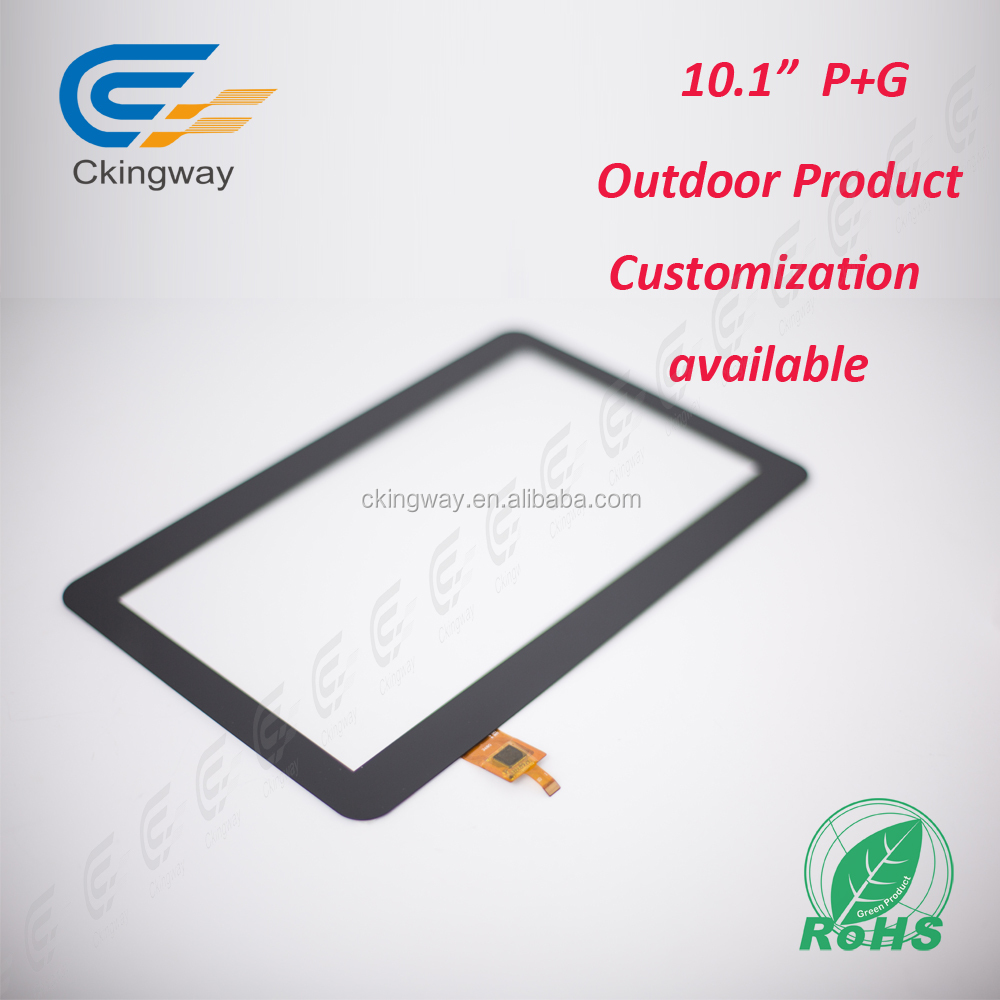 Factory price Ratio 16:9 10.1 inch capacitive touch button glass panel