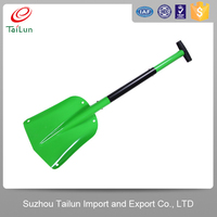 long handle folding aluminum snow shovel /folding snow shovel for car