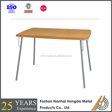 cheap wooden dining table with metal legs