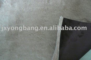 bonded woven polyester faux suede with knitted fake fur fabric