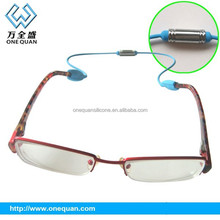 2015 factory wholesale fashion silicone magnet sports glasses strap magnetic adjustable silicone eyeglass strap